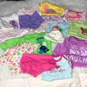 Other - Lot of 16 NEWBORN Baby Girl Clothes